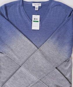 Men's Calvin Klein Silk V-Neck Sweater Size Med